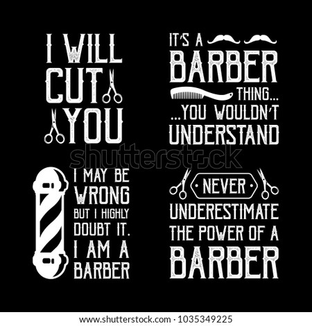 Barber Quotes Sayings 100 Vector Best Stock Vector Royalty Free