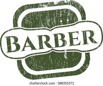 Barber rubber grunge stamp
