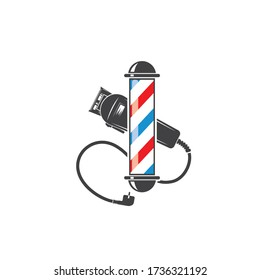 barber shop icon logo vector icon template