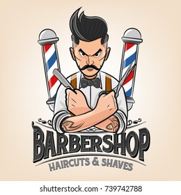 barber shop illustration