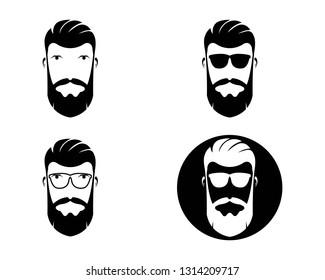 Barber shop isolated vintage label badge emblem.Vector illustration. - Vector