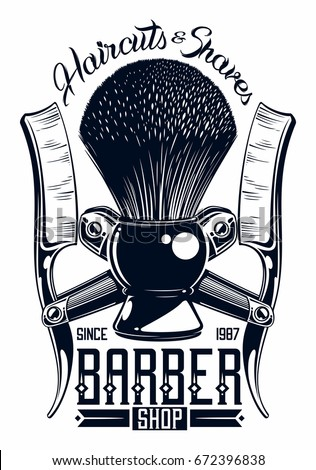 barber shop logo stock vector royalty free 672396838 shutterstock