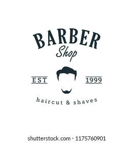 Barber shop Logo Design Template, Badges and Emblem