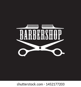 barber shop logo, eps 10