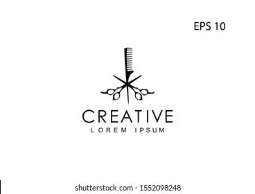Barber Shop logo, vector illustration.