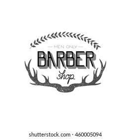 Barber shop modern  calligraphy in vintage style. Best for barbershops, chalk board, print design, web, t-shirts design, hairdressing salon and social nets.