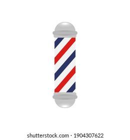 Barber shop pole background concept. Vector illustration
