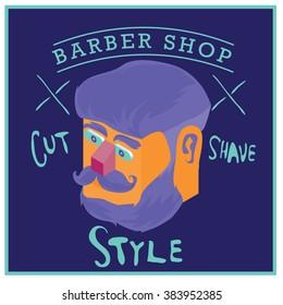 Barber shop Vintage and pop art poster