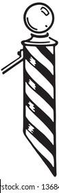 Barbers Pole - Retro Ad Art Banner