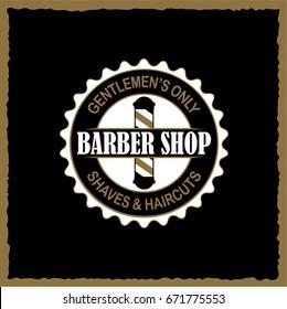 Barbershop banner, label, logo