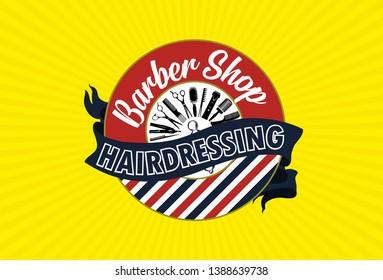 Barbershop Brand design for digitalised hairdresser for commercial use. high hairdressing.