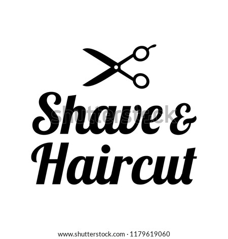 Barbershop Haircut Logo Template Stock Vector Royalty Free
