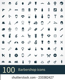 barbershop Icons Vector set