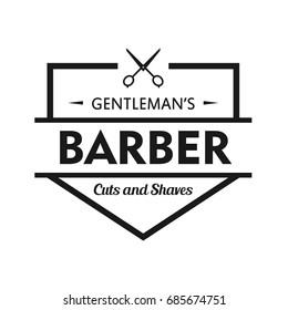 Barbershop logo design template