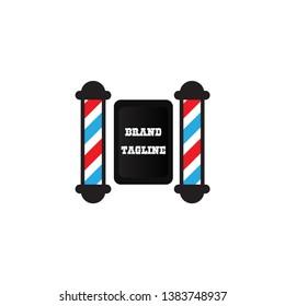 barbershop logo is simple and elegant