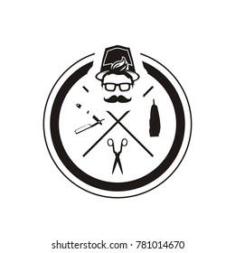 barbershop logos vector illustration