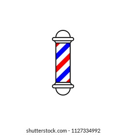 Barbershop pole isolated on white background. Logo for Barbershop, salon, or hair stylish.