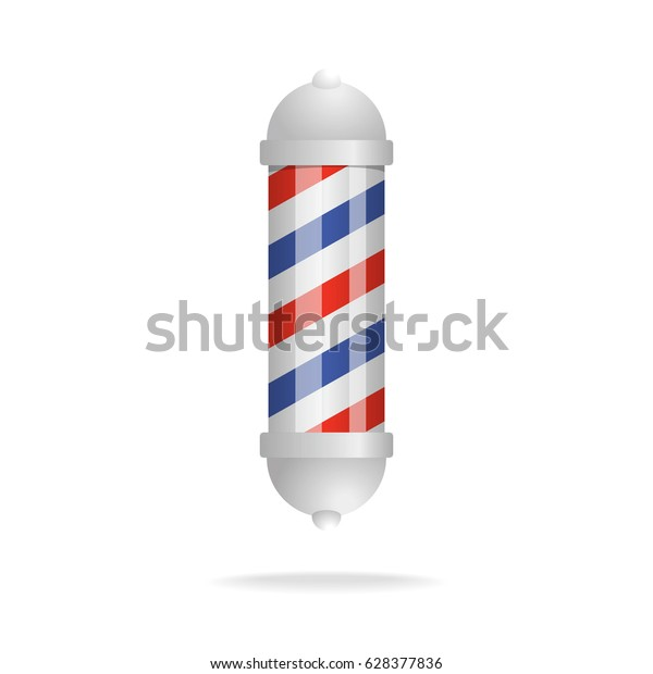 barbershop sign isolated