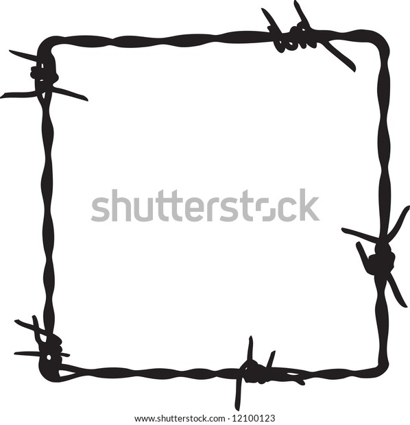 Barbwire in square frame