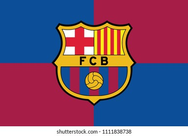Barcelona Color Background Flag