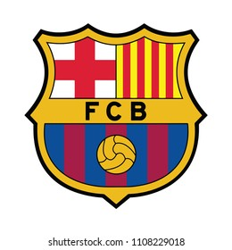 Barcelona, SPAIN FC Best, 2000 Vector illustration of Barcelona Football club EPS 10