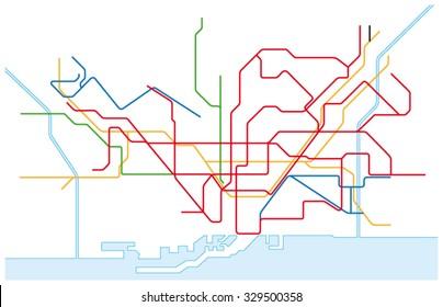 barcelona traffic network map