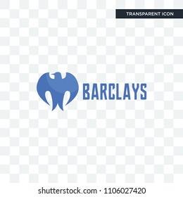 barclays bank vector icon isolated on transparent background, barclays bank logo concept