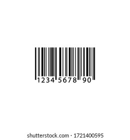 Barcode icon in black on isolated white background. EPS 10 vector.