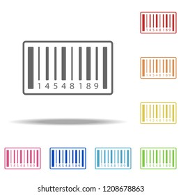 Barcode icon. Elements of Global Logistics in multi color style icons. Simple icon for websites, web design, mobile app, info graphics