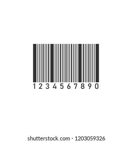 Barcode. Icon Flat