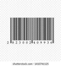 Barcode icon isolated on transparent background. Vector illustration.