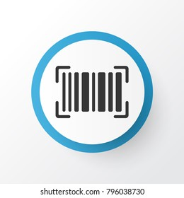 Barcode icon symbol. Premium quality isolated identification code element in trendy style.