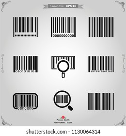 Barcode icon vector.
