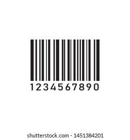 barcode icon vector. eps 10