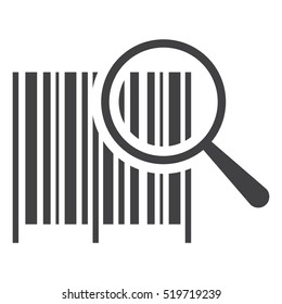 Barcode Icon Vector flat design style