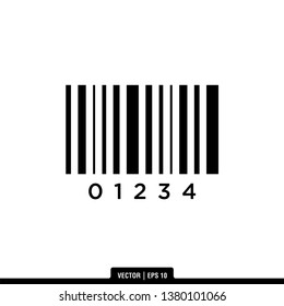 Barcode Icon Vector Illustration Logo Template