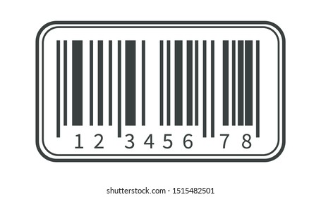 Barcode isolated icon, parcels shipping and transportation, coding and scanning vector. Products sticker with cipher or serial number, scan code. Price tag element, hidden industrial information