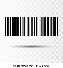 Barcode isolated on transparent background. Vector icon EPS10