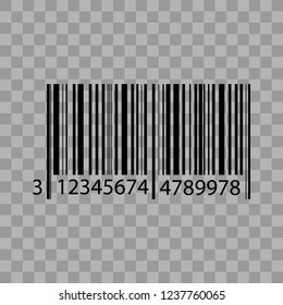 Barcode isolated on transparent background. Vector icon EPS10. Vector illustration.