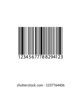 Barcode isolated on transparent background. Vector icon White background