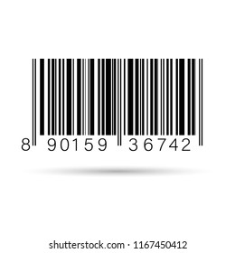 Barcode isolated on transparent white . Vector icon EPS10