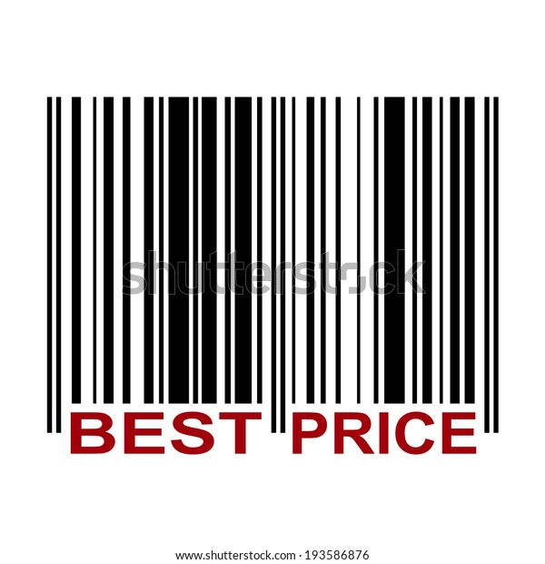 Barcode Label Best Price Red Color Stock Vector (Royalty Free) 193586876