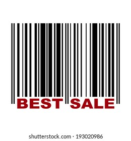 Barcode with label Best Sale in red color