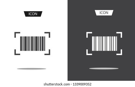 Barcode label icon Vector isolated on white background