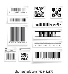 Barcode label set vector