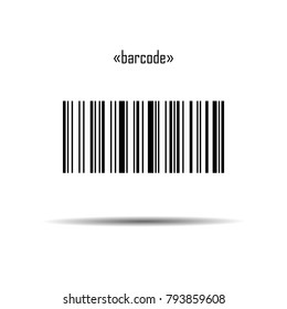 "Barcode. Barcode with meaning: ""barcode"". Barcode template - stock vector illustration isolated on white background with shadow"