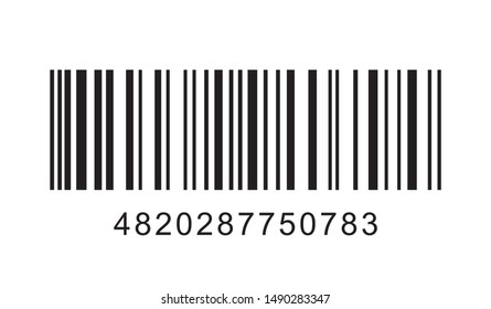 Barcode on white background. Vector illustration