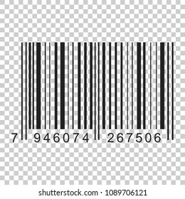Barcode Product Distribution Icon Vector Illustration On Isolated Transparent Background Business Concept Pictogram
