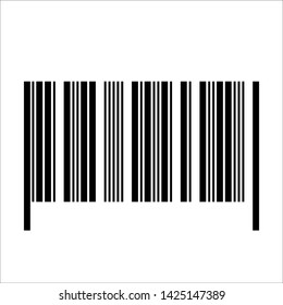 Barcode realistic icon. Flat vector illustration. Concept object design for product.