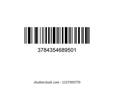 Barcode Realistic icon  vector illustration on background